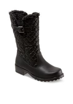 Trotters Black Quilted Blizzard III Weather Boot