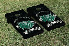 Northwest Missouri State Bearcats Rustic Established Banner Cornhole Game