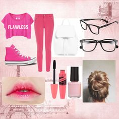 PINK by nansylee on Polyvore featuring Oasis, Converse, Ray-Ban and BP.