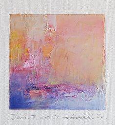 Jan. 7 2017 Original Abstract Oil Painting by hiroshimatsumoto