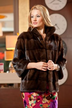 Comfortable mink jacket in Brown. #furcoat #furs #fashion #women