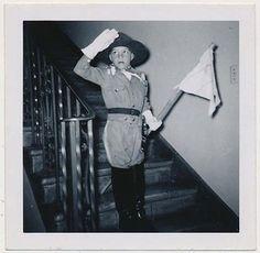 Boy Scout Wearing Uniform Saluting w Flag vintage 50's Snapshot Photo   eBay