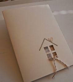 ...da kommt diese schlichte Karte gerade recht.                Ich verarbeite dieses Leinenpapier einfach zu gerne. Die Karten bekommen mit...