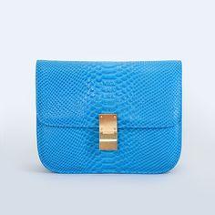 Light Blue Celine Classic Crossbody Box Bag