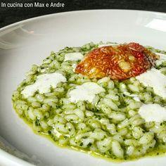 """RISOTTO AL BASILICO,  FICHI E BURRATA """"CENA ROMANTICA"""" Scopri il primo piatto leggero e sfizioso... con un tocco di stagionalità e dolcezza che conquista!!!  #incucinaconmaxeandre #corsodicucina #lagomaggiore #verbania #food #ricette #cenaromantica #risotto #basilico #fichi #burrata #carnaroli Link: http://www.incucinaconmaxeandre.it/wordpress/?p=2184"""