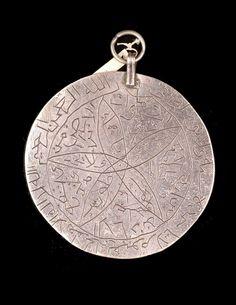 Syria - Dimashq, Damascus | Silver pendant.  ca. 1967 or earlier. // ©Quai Branly Museum. 71.1967.100.64