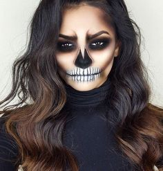 Are you looking for ideas for your Halloween make-up? Browse around this site for cute Halloween makeup looks. Cute Halloween Makeup, Halloween Inspo, Halloween Makeup Looks, Halloween Halloween, Skeleton Halloween Costume, Pretty Halloween, Women Halloween, Sugar Skull Halloween Makeup, Sugar Skull Costume Diy