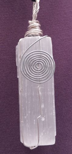 Selenite Cube with Spiral Wrap