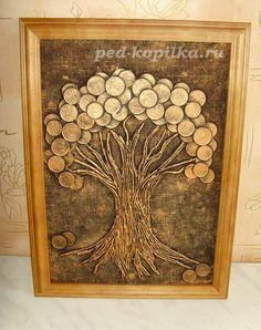Денежное дерево из монет. Мастер-класс