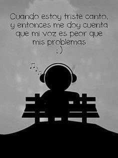Cuando estoy triste...