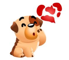 Dog Love Sticker by Chummy Chum Chums for iOS & Android Love You Gif, Love You Images, Cute Love Gif, Gif Lindos, Kiss Emoji, Emoji Love, Good Night Gif, Cute Messages, Cute Dog Pictures