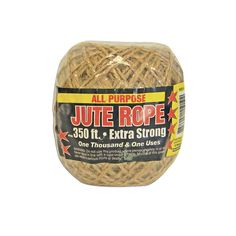 350' Feet Natural 2Ply Twisted Jute Twine String Rope Bird Parrot Toy Craft Part