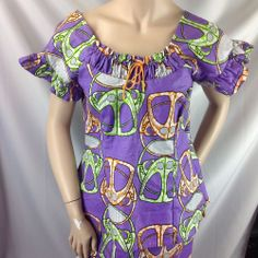 Bold African Attire Traditional Womens Garb Batik Maxi Dress Skirt Top Costume L #Handmade #Traditional #Formal