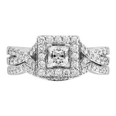 The exact engagement/ wedding ring I want! It's a set :)