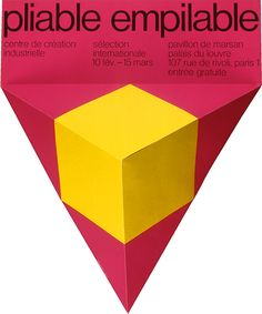Jean Widmer, Pliable empilable poster