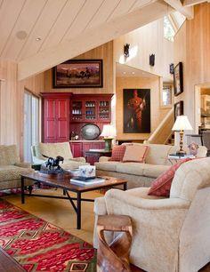 Mountain Home Living Room   Paula Berg Design Associates