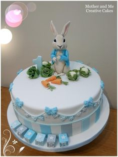 Peter Rabbit First Birthday by Mother and Me Creative Cakes