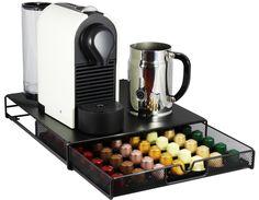 DecoBros Coffee Pod Storage Mesh Nespresso Drawer holder for 56 Capsules, Black: Amazon.com: Grocery & Gourmet Food