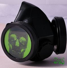 Black Cyber Mask Cyber Goth Respirator Gas Mask  by olnat31sun, $15.99