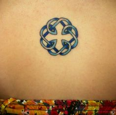 My tattoo(: its the celtic knot symbol for the bond between a father and daughter. In my dads birthstone :) happy fathers day dad :)
