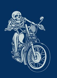 Dead Biker by inkcorf, via Behance