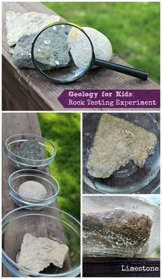 Rocks and minerals - geology for kids and rock testing