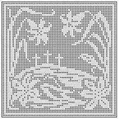 Easter filet crochet