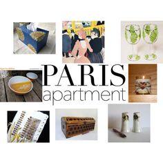 Paris Apartment Reveal by gail-brigham on Polyvore featuring interior, interiors, interior design, home, home decor, interior decorating, memento, Pyrex, Pocket Book and parisapartment