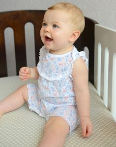 Playing on a style developed more than a century ago, our Yoke-Front Romper is both...