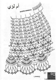 Crochet Patterns Skirt Contest for active commentators in the ra . How to Crochet a Bodycon Dress/Top - Crochet Ideas This Pin was discovered by rub Crochet Skirts, Crochet Blouse, Crochet Clothes, Crochet Lace, Crochet Diagram, Crochet Chart, Easy Crochet Patterns, Crochet Stitches, Crochet Toddler Dress