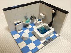 子供と遊ぼうレゴ日記 Lego Moc, Lego Lego, Lego Bathroom, Lego Furniture, Lego Boards, Lego Construction, Lego Blocks, Lego Design, Lego Projects