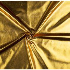 Látka polyesterový úplet zlatý Textiles, Fabrics, Textile Art