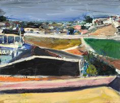"""Richard Diebenkorn (USA 1922-1993) Mission Landscape(1962) oil on canvas, 14 x 16.125 in. """