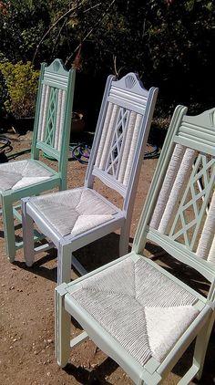 Peindre le rotin, l'osier ou la paille d'une chaise - Eleonore Déco Candle Making, Dining Chairs, Job, Furniture, Dune, Images, Home Decor, Style, Design