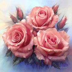 Rosas pintadas lindas