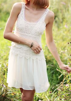 Crochet lace dress... think i have a white lace dress addiction on interest
