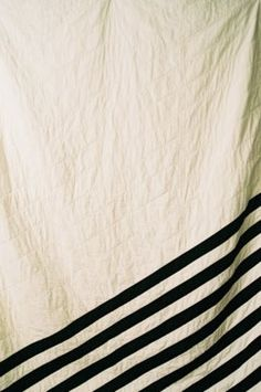 something great about these simple stripes...love the drape of the cloth and the placement of the stripes