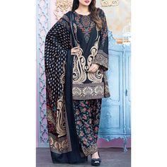 Black Printed Linen Dress Contact: (702) 751-3523 Email: info@pakrobe.com Skype: PakRobe
