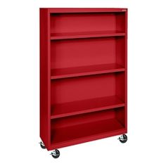 """Sandusky Lee Mobile Bookcase (58"""" H) https://www.schooloutfitters.com/catalog/product_info/pfam_id/PFAM2008/products_id/PRO6805"""
