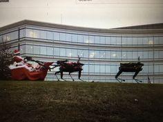 Robo Santa is coming to town! Boston Dynamics, Domo Arigato, Happy Holidays, Santa, Happy Holi