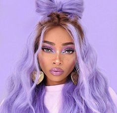 Blue Wigs Lace Hair Lace Frontal Wigs Pink Bob Wig Transparent Lace Human Hair Wigs African American Lace Front Wigs With Baby Hair Pretty Hairstyles, Wig Hairstyles, Bun Hairstyle, Doubles Chignons, Lavender Hair, Lavender Color, Natural Hair Styles, Long Hair Styles, Lace Hair