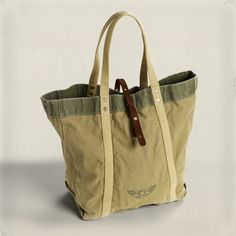 6e23b9fd49 Rrl Medium Vintage Canvas Tote in Green for Men (Tan)