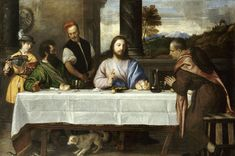 The Gospel at Mass today is about Christ's journey on the road to Emmaus with his two disciples. Description from brotherjuniper.wordpress.com. I searched for this on bing.com/images