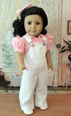 Overalls and Blouse for 18 Inch Dolls