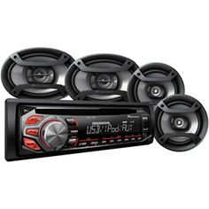 """Pioneer Complete Car Audio Package, DXT-X2669UI, 200W Stereo with Two 6.5"""" Speakers and Two 6"""" x 9"""" Speakers"""
