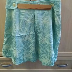A line blue skirt size 6 Cool spring summer A Line skirt  Fully lined Zipper in the back Isaac Hazan Skirts A-Line or Full