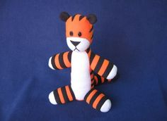 Picture of Stuffed Hobbes (with pattern) I might have to find someone who can really sew, to do this for Parker.