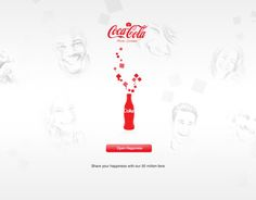 Coca-Cola celebrating 50 millionfans on facebook - Design concept