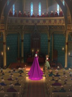 Frozen - Elsa's coronation cape has her family's traditional tulip design at the bottom.