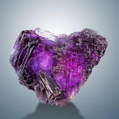 Fluorite Locality: Summit Cleft, Weisseck, Lungau, Salzburg, Austria Size: 6 × 5 × cm Photo Copyright © Viamineralia /e-rocks. Crystals Minerals, Rocks And Minerals, Crystals And Gemstones, Stones And Crystals, Natural Gemstones, Cool Rocks, Beautiful Rocks, Rocks And Gems, Crystal Healing